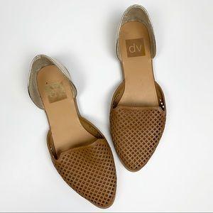 DV Perforated Tan Flats